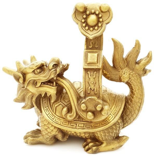 Bronze Dragon Tortoise with Ru Yi