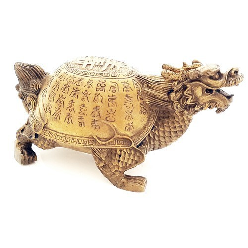 """Dragon Tortoise with """"Sau"""" for Success and Longevity - Small"""