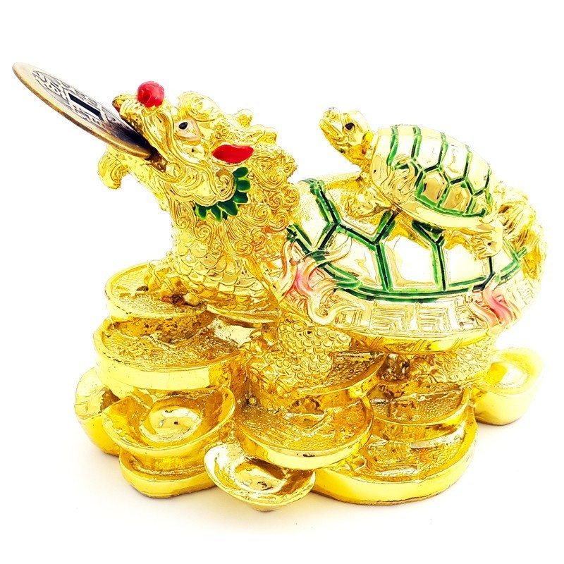 Golden Dragon Tortoise Carrying A Child