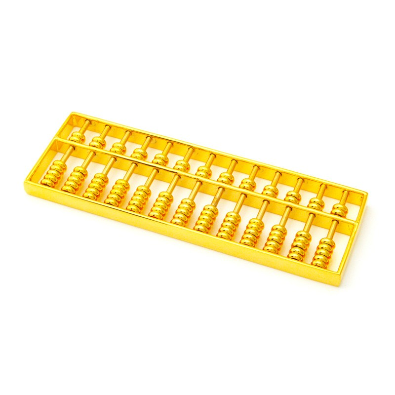 Golden Abacus for Financial Luck - LARGE