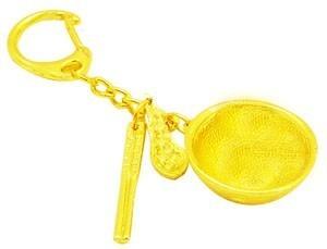 Golden Bowl Set Keychain