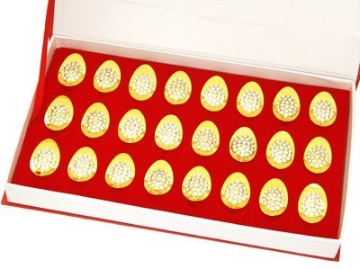 Bejeweled Golden Ingots - 24pcs per set
