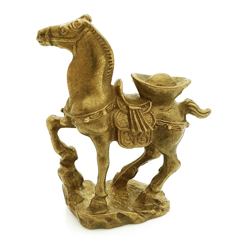 Auspicious Horse with Ingot for Business