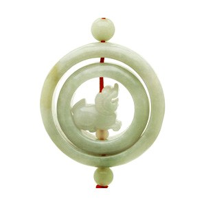 Jade Pi Yao Tassel for Wealth and Protection