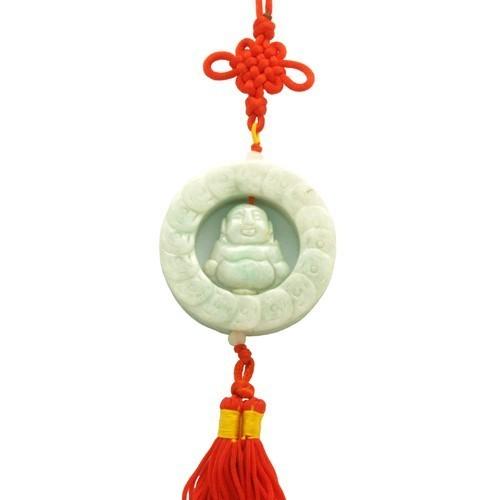 Laughing Buddha Jade Tassel
