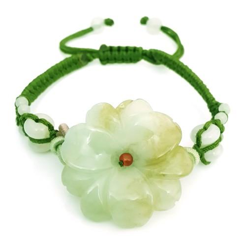 The Sunflower Jade Bracelet - Green