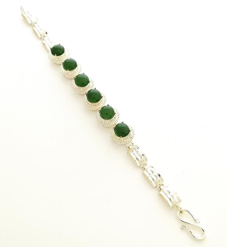 100% Natural Green Jade Jadeite Lucky Charm Feng Shui Bracelet