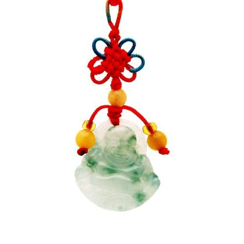 Jade Laughing Buddha Tassel For Wealth and Success