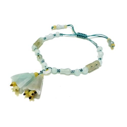 The Magnolia Flowers Charm Bracelet - Light Blue