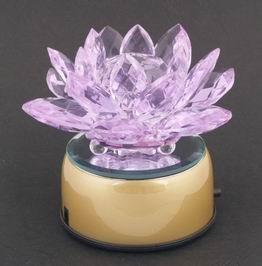 Crystal Lotus on a Rotating Stand (110 V) - Purple
