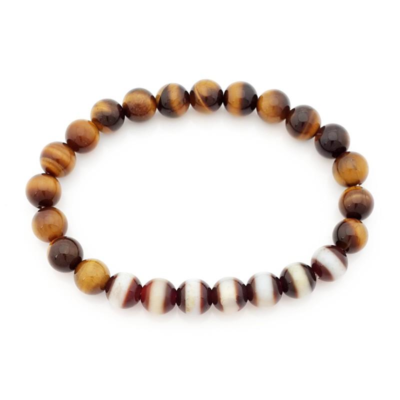 The 7 pieces of Medicine Buddha Dzi Beads Bracelet