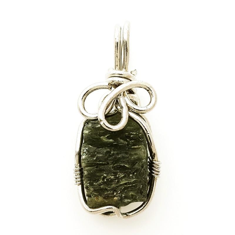 Natural Moldavite Crystal Pendant