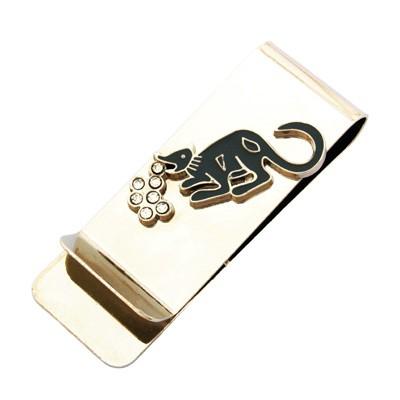 Bejeweled Mongoose Money Clip, money clip, feng shui money clip.