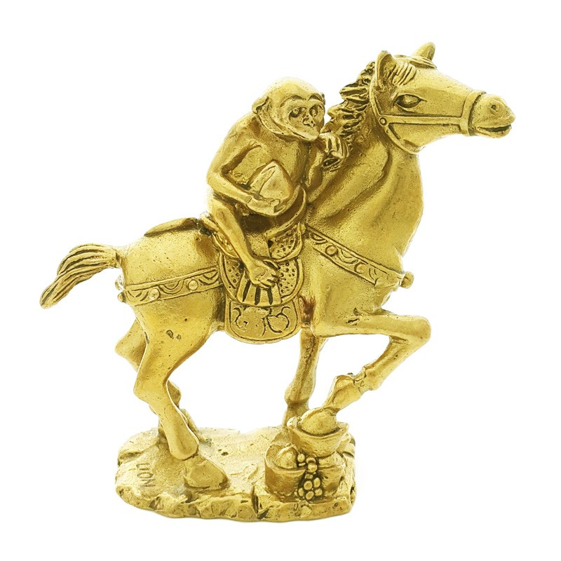 Auspicious Monkey on a Horse