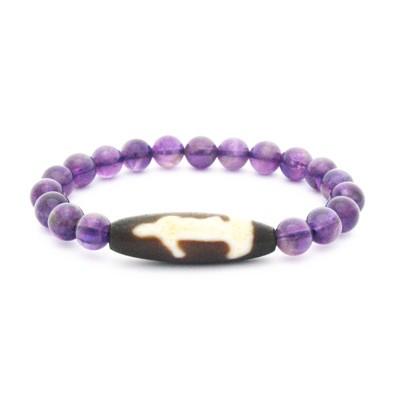 Old Agate Kuan Yin Bracelet