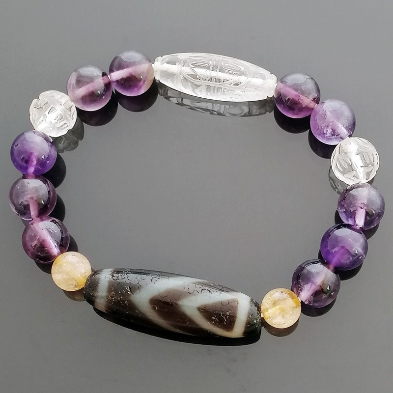 FENG SHUI One Eye OLD Agate dZi Bead for Wisdom and Happiness