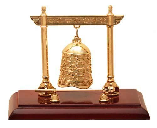 The Golden Five Element Bell with Stand