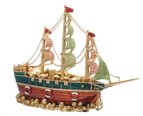 Bejeweled Merchant Wealth Ship - Extra LARGE