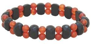 Black Faceted Onyx Crystal Bracelet
