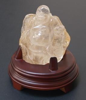 Natural Clear Quartz Laughing Buddha