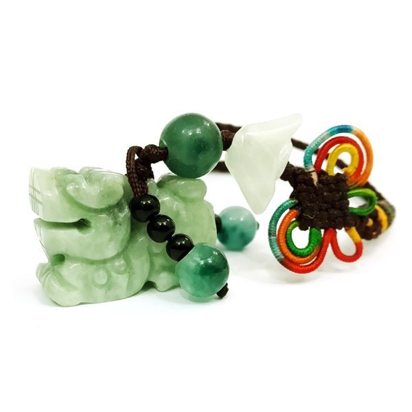 Pi Yao Jade Tassel for Wealth and Protection