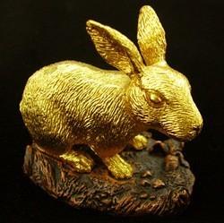 24K Gold Plated Rabbit Figurine