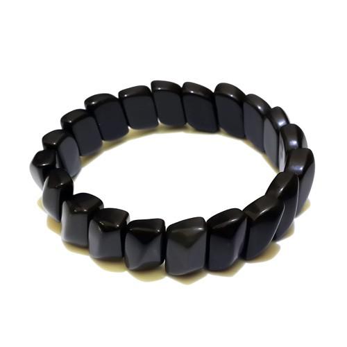 Obsidian Bracelet - Leaf Shape