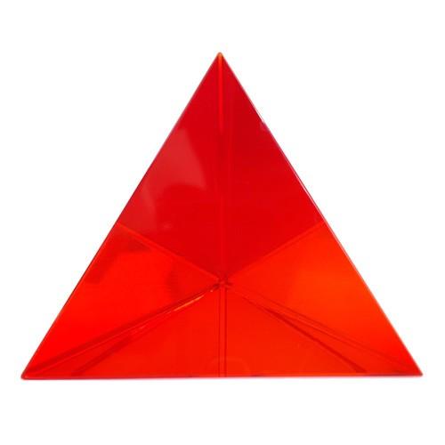 Red Triangular Crystal