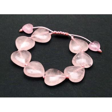 Heart Shape Rose Quartz Bracelet For True Love