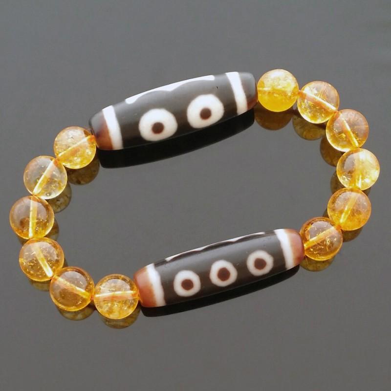 Feng Shui Super Wealth Dzi Beads Combo Bracelet