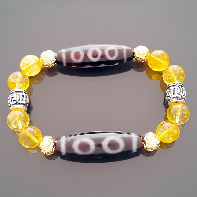 The Super Wealth Dzi Bead Bracelet