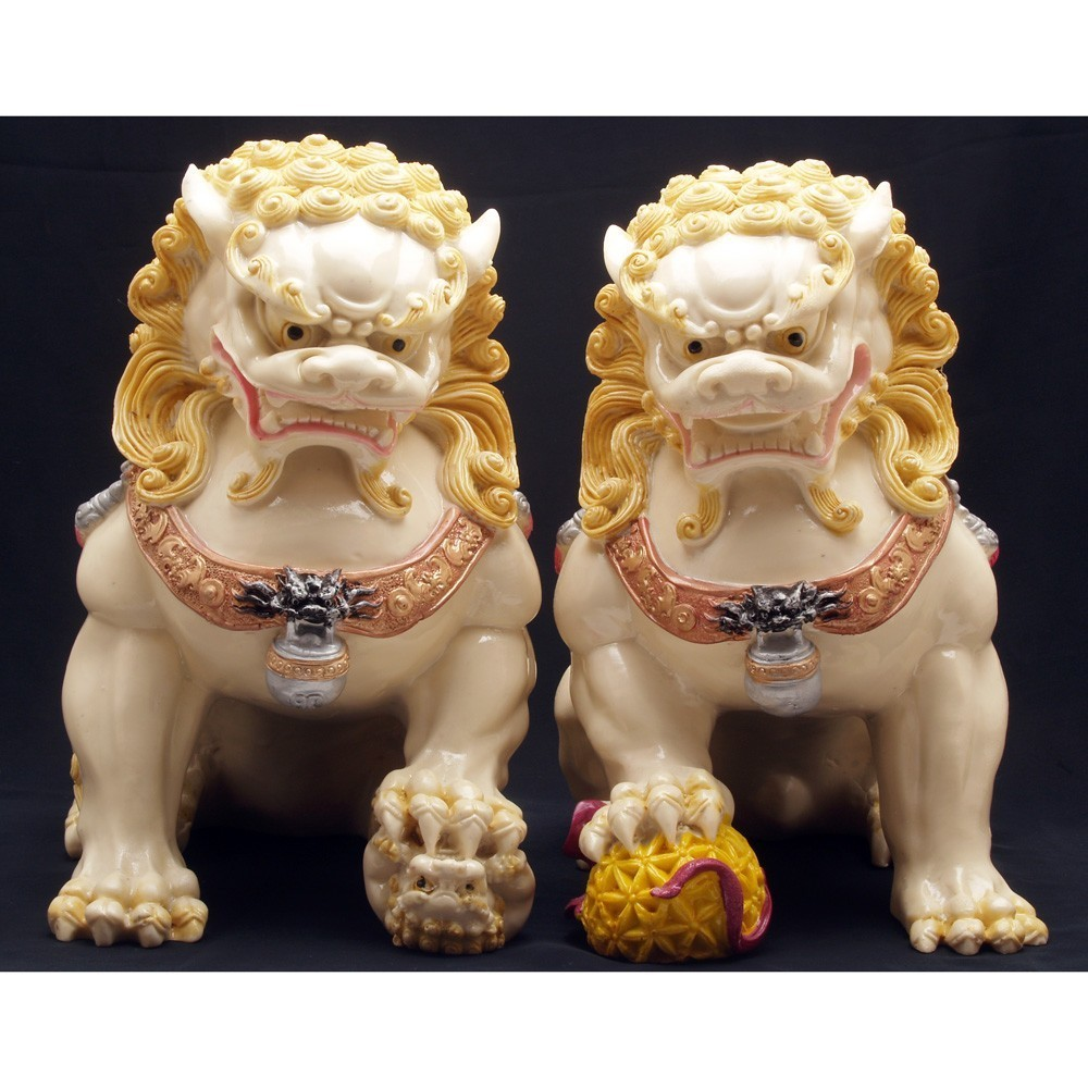 A Pair of Temple Lions