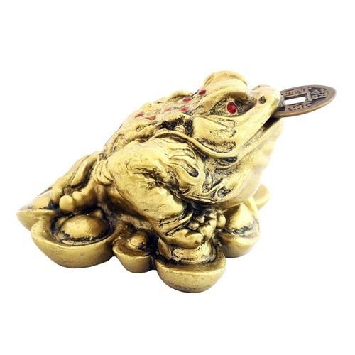 Three Legged Toad on Bed of Ingots - Bronze