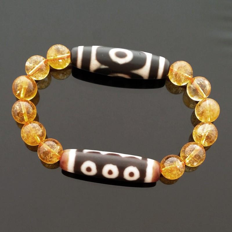 Feng Shui Tibetan OLD 3 Eyed With OLD 5 Eyed Super Wealth Dzi Beads Bracelet