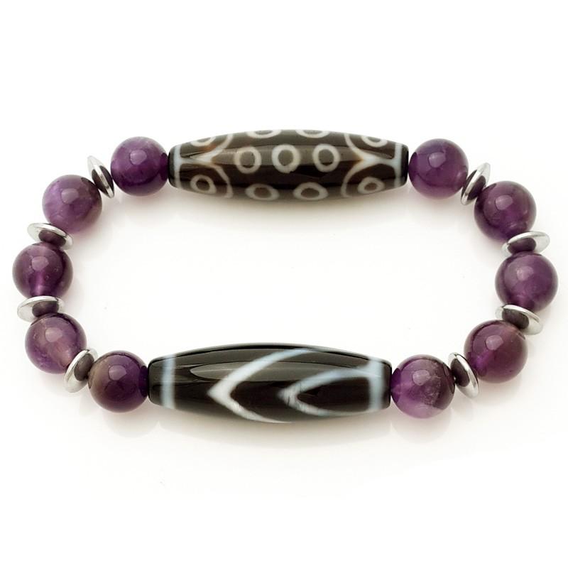 Wish Fulfilment Dzi beads Bracelet