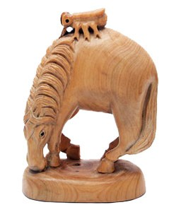 Wood Carved Fly on Horse