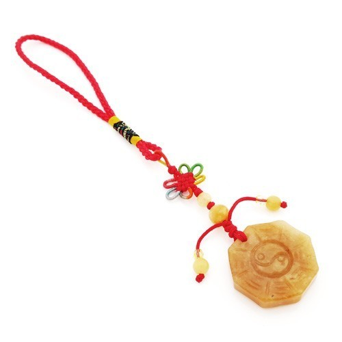 Yellow Jade Bagua (Pa Kua) Tassel For Protection