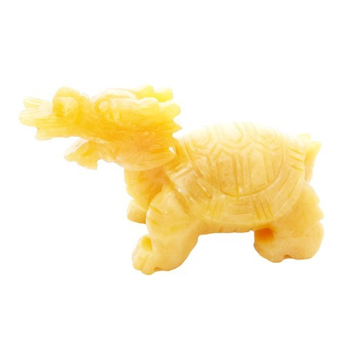 Yellow Jade Dragon Tortoise for Longevity