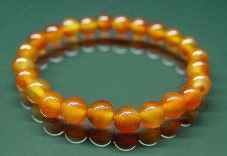 Carnelian Bracelet for Happiness - 8mm