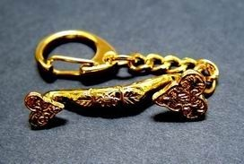 Gold Plated Ru Yi Key Chain