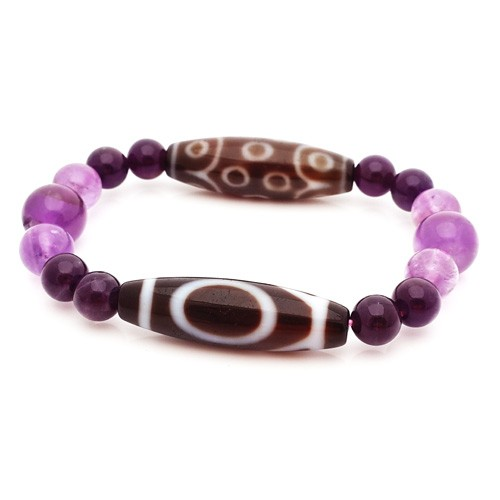 1 Eye and 15 Eyes Dzi beads bracelet for wish-fulfillment and Promotion
