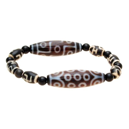 The Imperial Four Dzi Bead Bracelet