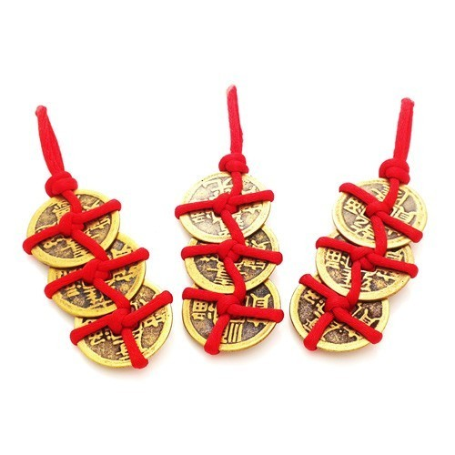 "Feng Shui 3 Coins in ""Trinity Knots"" - 3pcs per set"