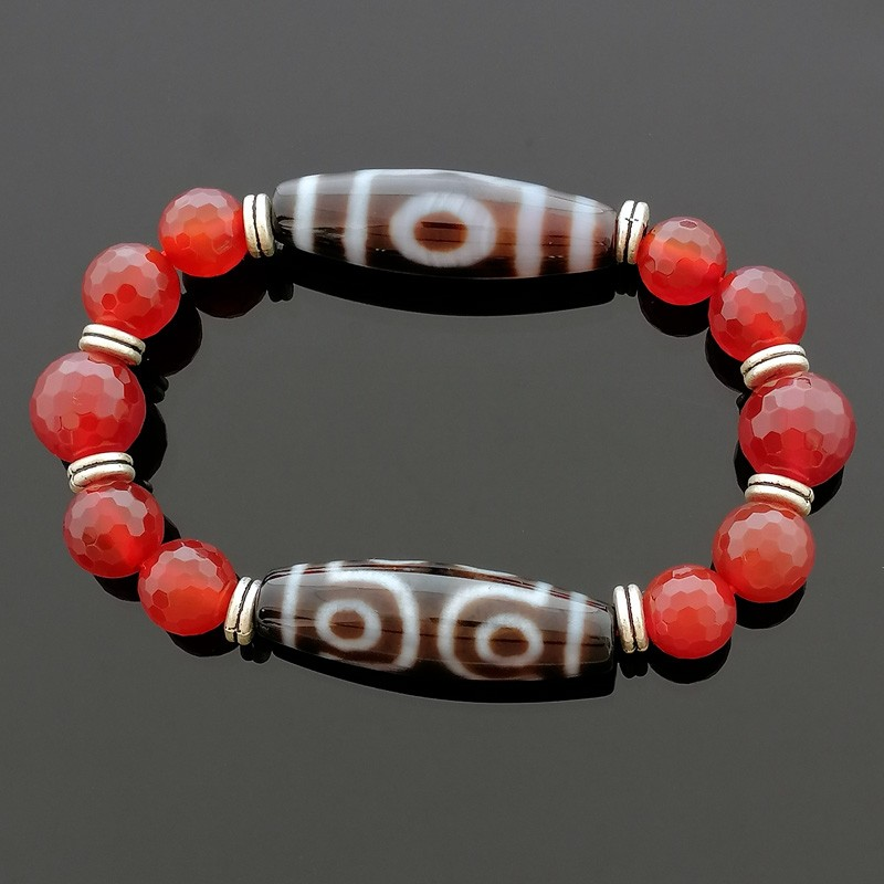 Feng Shui Good Luck Combo Dzi Beads Bracelet To Obtain Good LUCK