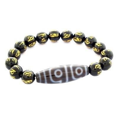 4 Eyed Dzi Bead Bracelet
