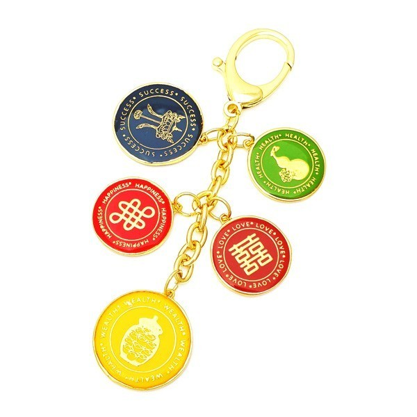 The Golden 5 Element Keychain for Health, Wealth & Happiness
