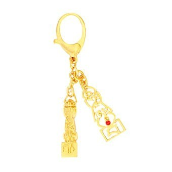 5 Element Pagoda with Seed Syllable Keychain