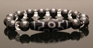7 Eyed Dzi Bead with 10mm Hematite Bracelet