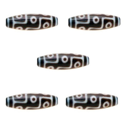 9 Eyed Dzi Bead - 5pcs per pack