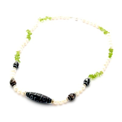The Royal Three Dzi Beads Necklace for Good Fortune